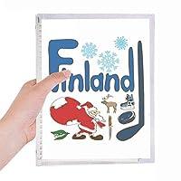 フィンランドの国家の象徴のランドマークのパターン 硬質プラスチックルーズリーフノートノート