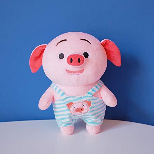 N / A 1 Pieza de Peluche de Cerdo de Dibujos Animados Kawaii Cerdo Gordo con Ropa Suave muñeca de Cerdo del Zodiaco Lindo cumpleaños para niños y bebés 30 cm