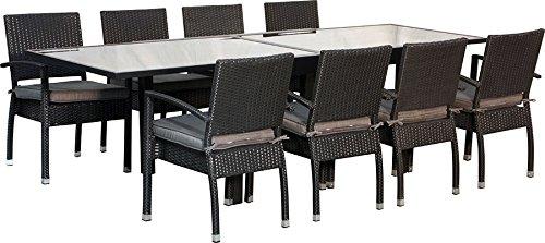 IB-Style-Muebles de Málaga gardino/135-mesa 6-8 x 270 cm silla Cojín Blackcord/grouppo-set-lounge-resistente a la intemperie.