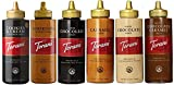 A Set of all 6 favorite Torani 16.5 ounce Sauces Cookies & Cream, Chocolate, Caramel, White Chocolate, Pumpkin Pie & Salted Chocolate Caramel sauces Delicious in coffee and blended drinks, on ice cream and desserts and much more Great for home, offic...