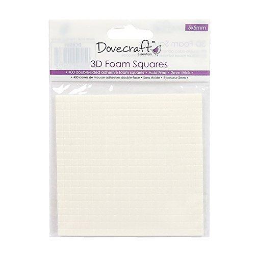Dovecraft Carta Essenziale, Schiuma, White, Foam Squares 400, Multicolore, Taglie Unica