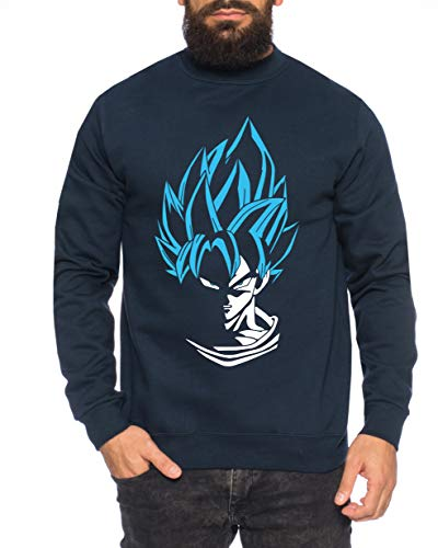 SS Herren Sweatshirt Goku Dragon Master Son Ball Vegeta Turtle Roshi Db, Größe:XL, Farbe:Navy