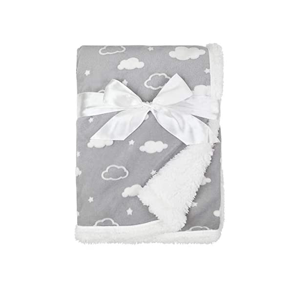 American Baby Company Sherpa Receiving Blanket