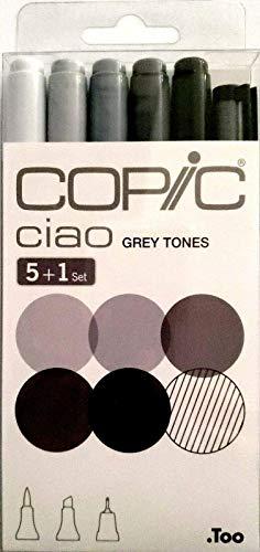 Copic 22075554 Ciao Set 5+1, Toni Grigi