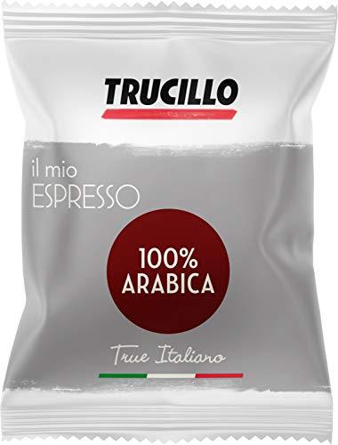 "Caffè Trucillo Espresso ""100 {d4e77ef52e21f50ae59adccf83fd72ec2dbe15b3dea8969f4959097c1403b662} Arabica"" ESE Pads / Espresso Pods / Cialde, 150 Stück, 1050 g"