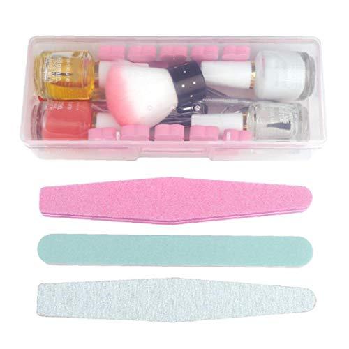 ZYCX123 Herramientas Herramientas de uñas Cuidado de uñas de manicura del Kit multifunción de uñas de Gel de cutículas Conjunto del Polaco de acrílico de la manicura con la Caja