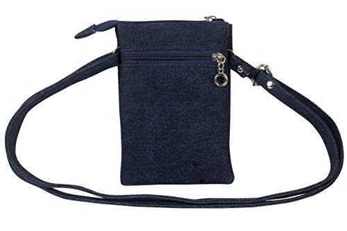b4bags Girl's Sling Bag (Dark Blue & Red)…