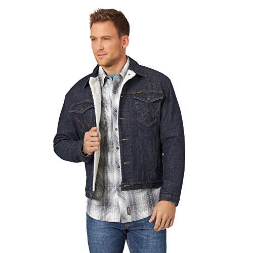Wrangler Men's Retro Sherpa Lined Denim Jacket, Sunken, X-Large