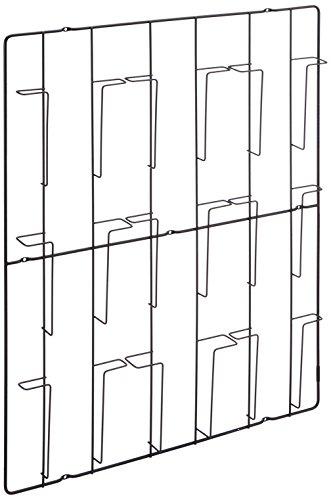PUHLMANN Capventure - Prospektehalter, Magazine-Wandhalter, mit 9 Fächer, aus Stahl