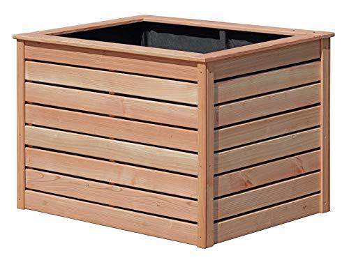 Gartenpirat Hochbeet Lärche 125x85x80 DIY - Bausatz mit Lärchenholz glatt 20x90