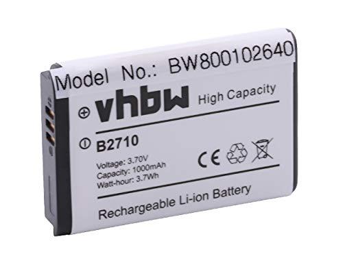 vhbw Akku passend für Samsung GT-B2710 Handy Smartphone Telefon (1000mAh, 3,7V, Li-Ion)