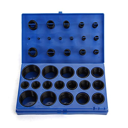 Juego de juntas tóricas de goma de nitrilo, juego de 419 piezas, juego de juntas tóricas para reparación de juntas, juego de plomería para garaje