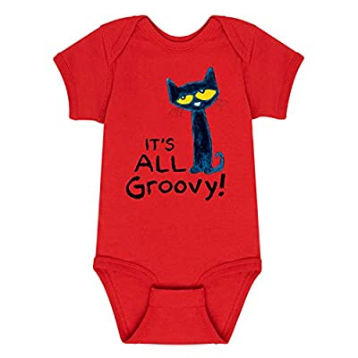 Pete The Cat It's All Groovy - Infant One Piece Red