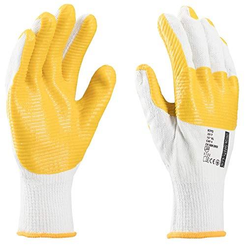 FERTIGER Arbeitshandschuhe perfekt für Fertiger, Pflaster, für Leute mit Blöcken, Ziegeln, Bauhandschuhe, Handschuhe für Bauzwecke, Handschuhe für Bauarbeiten (12 Paar, 10