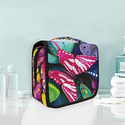 MontoJ Grande trousse de toilette à suspendre avec motif papillons colorés