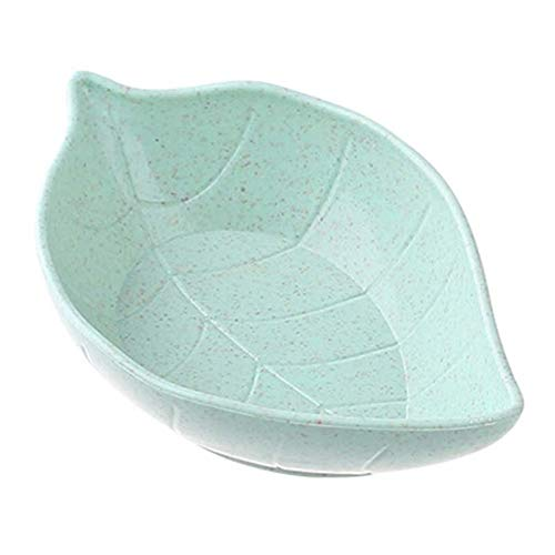 WBFN Schotels Borden, Creative Leavess Dish baby Bowl tarwestro Sojasaus schotel Rice Bowl Plate Sub - plaat Japanse tafelgerei Voedsel Container (Color : Green)