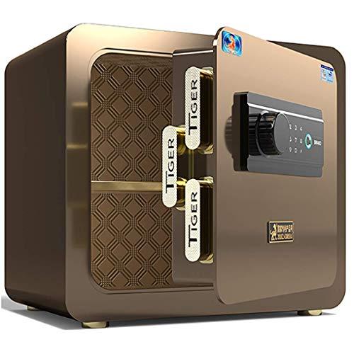 Caja fuerte de seguridad, caja fuerte de seguridad electrónica Caja fuerte pequeña para oficina en el hogar Caja fuerte digital 36 CM, totalmente de acero, antirrobo, contraseña, huella dactilar, caj