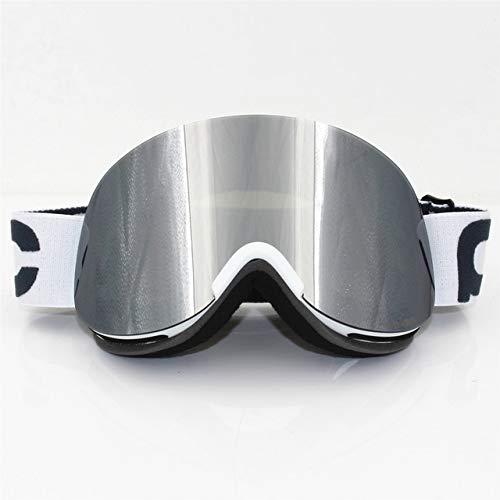 Doble UV400 antivaho gafas de esquí transparente retina