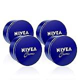 NIVEA Crema Hidratante para Manos, Cara y Cuerpo - 4 x 400 ml, Total: 1600 ml