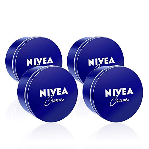 NIVEA Creme en pack de 4 (4 x 400 ml), crema hidratante de m