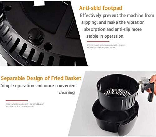 41 kdCpeDwL. SL500  - YFGQBCP 1350W Air Friteusen mit abnehmbarem Korb, Intelligent Timer und Voll einstellbare Temperaturregelung for gesundes Öl & Low Fat Kochen, 4.5L Pan mit 3.6L Basket