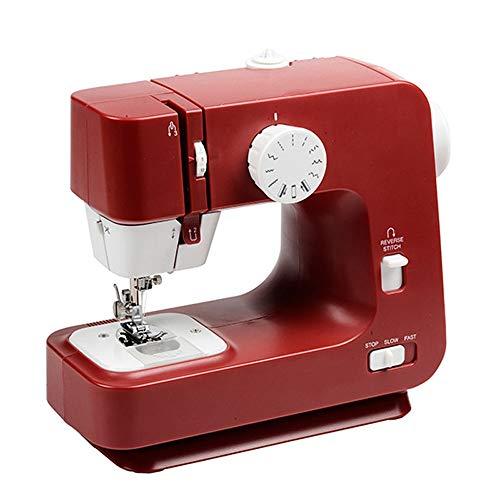 TONINI Máquina de Coser 12 Puntadas preestablecido portátil pequeña máquina de Coser, Apto for Principiantes y niños, Rojo, del Enchufe (EE.UU.)