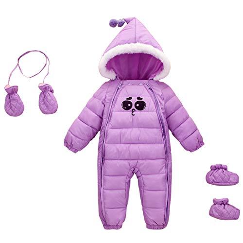Bambino Tute da neve Guanti Scarpe Neonato Pagliaccetti con Cappuccio Inverno Body con Cerniera 18-24 Mesi