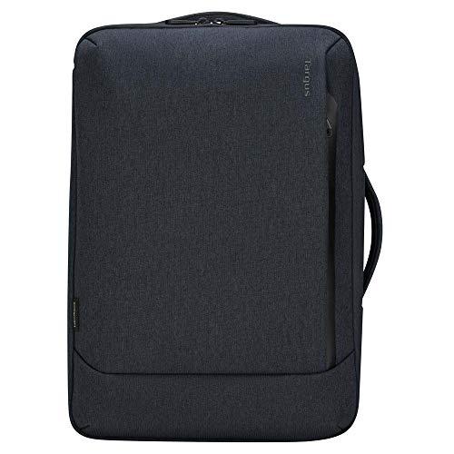 Targus Cypress - Mochila Convertible con Ecosmart diseñada para viajeros de Negocios y Escuela de hasta 15.6 Pulgadas para portátil/portátil, Azul Marino (TBB58701GL)