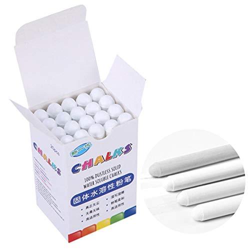 HelloCree, gesso senza polvere, gessetti solubili in acqua, 20 pezzi con copertura di gesso bianco