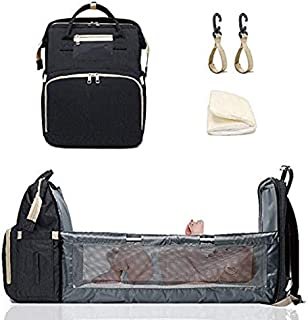 High quality Diaper Bag Backpack For Baby Toddlers Portable Bassinet Baby Moms Travel Bag With Sunshade And USB Charging P...