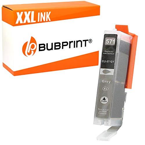 Bubprint Druckerpatrone kompatibel für Canon CLI-571XL GY für Pixma MG7700 MG7750 MG7751 MG7752 MG7753 TS8000 TS8020 TS8040 TS8050 TS8051 TS8052 TS8053 TS9000 TS9050 TS9055 Grau