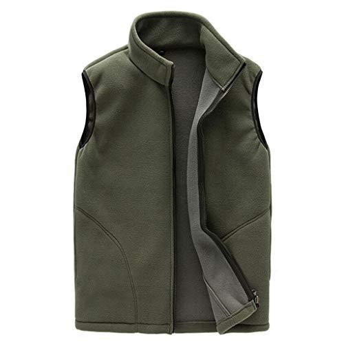 QARYYQ Unisex outdoorvest met lang fluweel vest (meerdere kleuren verkrijgbaar) reflecterende kleding