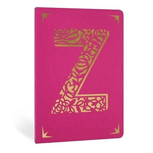Monogram folie gelinieerd notitieboek - A6 - letter Z - roze & goud - Portico ontwerpen