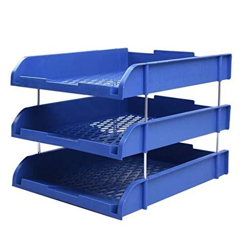 WULIHUA Magazine Halter, Kunststoff Datenrahmen Datei-Box Desktop File Storage Rack Dateiablage Dokument Desk-Speicher Datei Halter-Schreibtisch-Datei Organizer