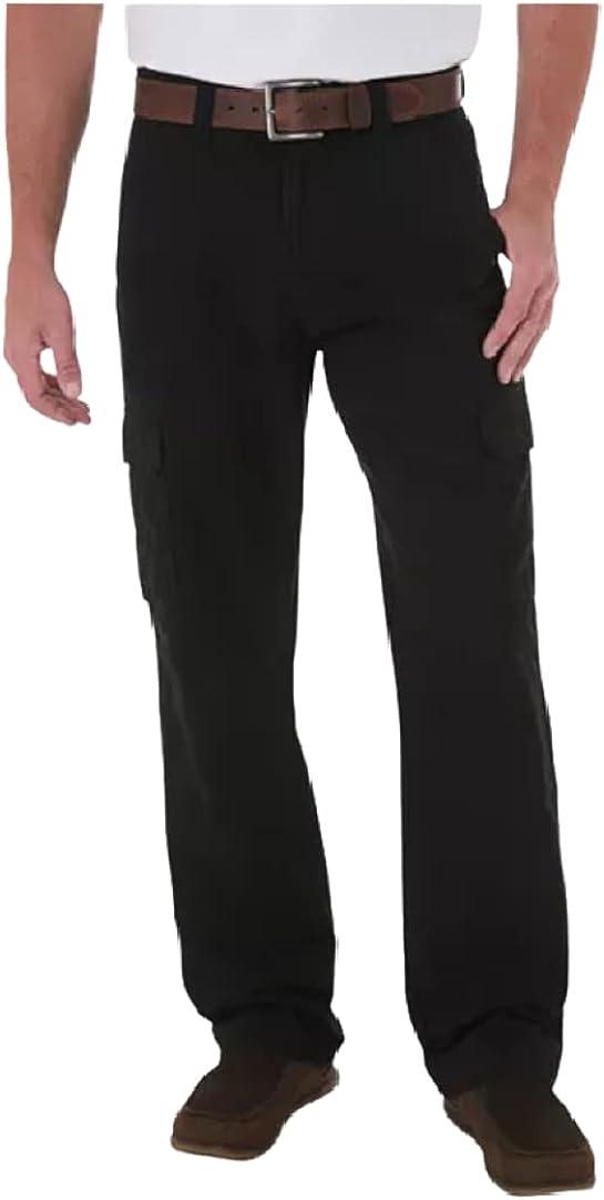 Wrangler Genuine Men's Twill Cargo Pants Will Black Mgw90bk 32