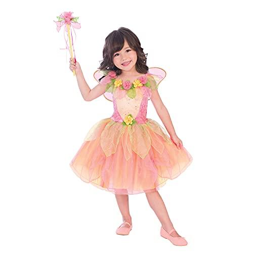 amscan- Pink Royal Princes Costume Disfraz de hada florida color melocotn  Edad 18  24 meses  1 PC, rosa (9904098)