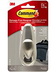 Command Forever Classic Metal Hook, Large, Brushed Nickel, 1-Hook (FC13-BN-ES)