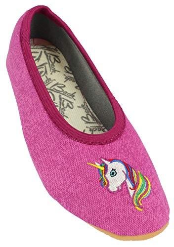 Beck dziewczęce buty gimnastyczne z jednorożcem, fioletowy - Violett Fuchsia 21-28 EU