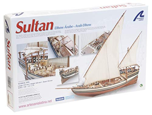Artesanía Latina 22165. Maqueta de Barco en Madera Dhow Árabe Sultan 1/85