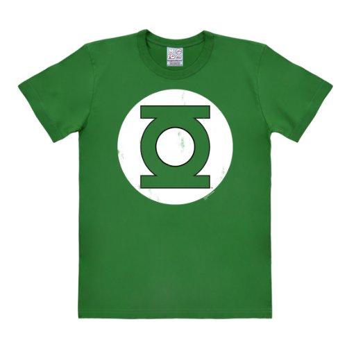 Logoshirt Camiseta Linterna Verde - Logotipo - Camiseta DC Comics - Green Lantern - Logo - Camiseta con Cuello Redondo Verde - Diseño Original con Licencia, Talla XL 🔥