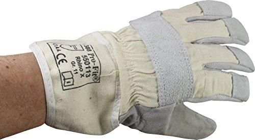 Rindspaltleder Handschuhe naturgrau Gr. 11 von Pro-Fit (1 Paar)