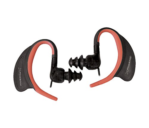 Phoenix Technologies PHSPORTWATER - Auriculares de clip, con micrófono, resistentes al agua, color negro