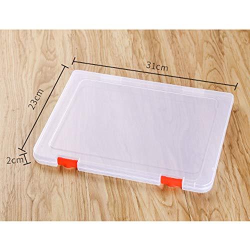 2 Stück Aufbewahrung Datei Boxen transparent Kunststoff Box, Aufbewahrungsboxen transparent aus Kunststoff A4 Slim Multistorageboxen für Home Office Schule Business Supplies(31 * 23 * 2cm)