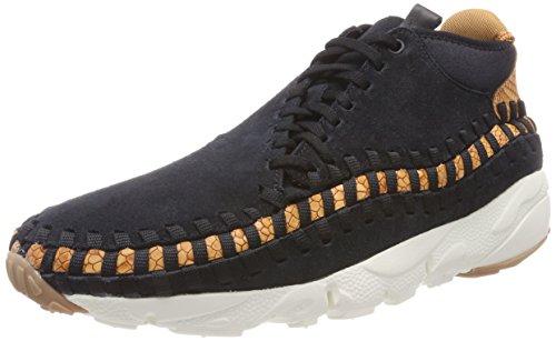 Nike Air Footscape Woven Chukka Prm, Scarpe da Ginnastica Uomo, Nero (Black/Dark Russet/Sail/Black 002), 42.5 EU