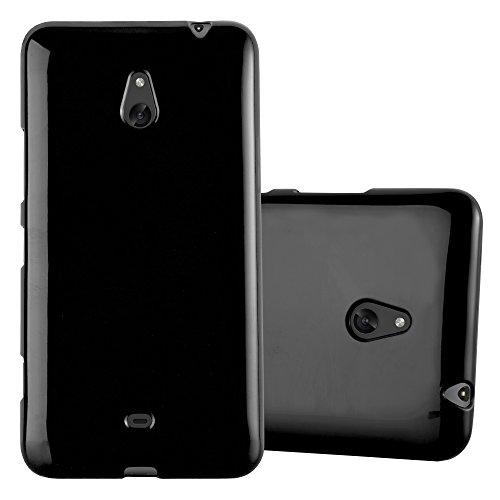 Cadorabo Custodia per Nokia Lumia 1320 in Jelly Nero - Morbida Cover Protettiva Sottile di Silicone TPU con Bordo Protezione - Ultra Slim Case Antiurto Gel Back Bumper Guscio