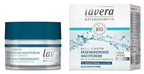 lavera basis sensitiv Regenerierende Nachtcreme Bio Aloe Vera & Mandelöl ∙ Alle Hauttypen ∙...