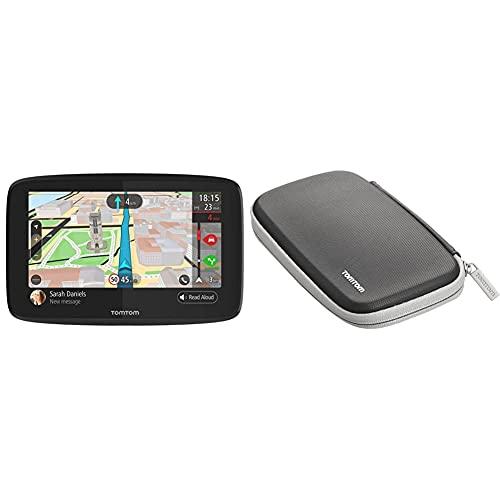 TomTom GO 620 Pkw-Navi (6 Zoll, mit Freisprechen, Siri und Google Now, Updates über Wi-Fi, Lebenslang Traffic via Smartphone und Weltkarten) & TomTom Klassische schützende Tragetasche