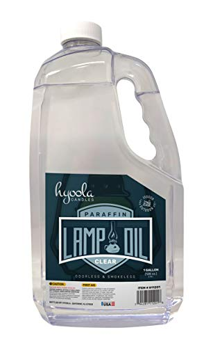 1-Gallon Liquid Paraffin Lamp Oil - Clear Smokeless, Odorless, Ultra Clean Burning Fuel for Indoor and Outdoor Use - Highest Purity Available - by Hyoola Candles