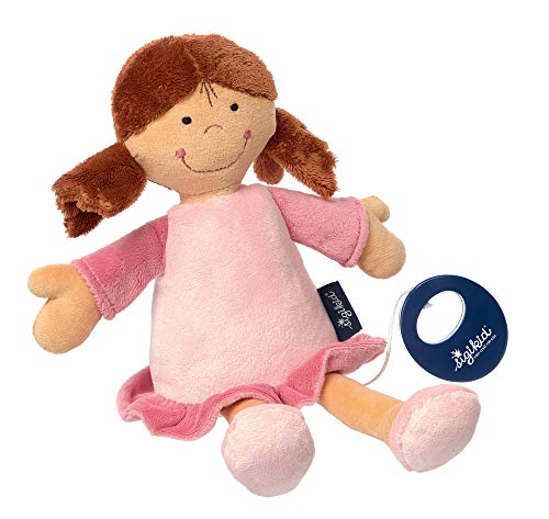 sigikid, Fille, Peluche Musicale Poupée, Blue Collection, Rose, 42228