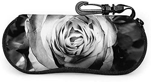 Negro y blanco pétalo rosa textura-negro y blanco palma suave lente caso para mujeres hombres